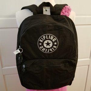 Kipling Kiryas Black Nylon Backpack